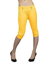 S&LU Orientalische Capri-Hose aus feinem Stretch-Stoff mit Zierknöpfen am Bund One size (XS-M)