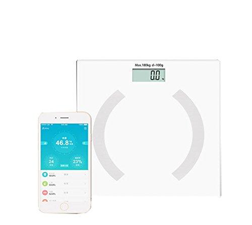 JMung'S Waage Bluetooth Fettwaage Ito Beschichtung Test Eine Reihe Von Daten KöRperwaage Waage Eine Vielzahl Von Handy-App Messbar ML627 , white