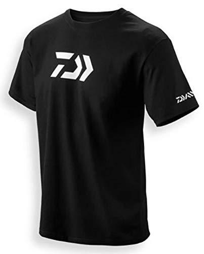 Daiwa 64051903 Vector Print T-Shirt, Schwarz, Größe L - Baitcasting Angel