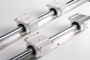 Tradico® TradicoBrand New 2 Pieces TBR16-650mm Support Linear Rail + 4 TBR16UU Bearing Blocks