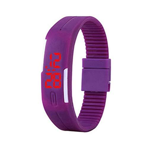 RQMQRL Orologi da Polso Colorati Orologi da Polso in Gomma da Uomo con Cinturino in Silicone Color Touch Screen Digitale
