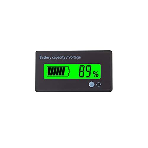 Misuratore della capacità di voltaggio della batteria digitale Tester,12V 24V 36V 48V 60V 72V 84V LCD Tester di capacità della batteria al piombo,pannello di batteria al litio Indicatore per auto