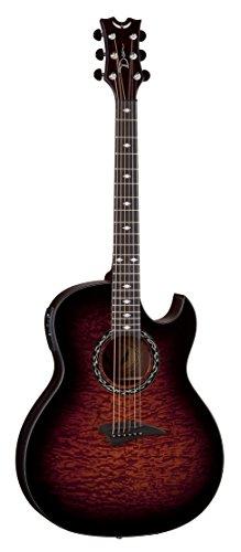 Dean Guitars EX QA barattolo, mostre Quilt Ash-Chitarra elettroacustica con Aphex preamplificatore con occhio di tigre