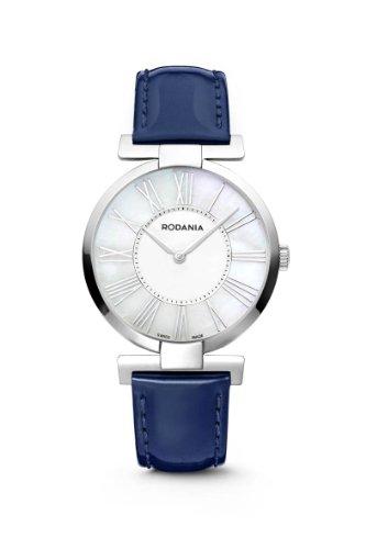 Great Books 4 Kids RS2507729 - Reloj para mujeres, correa de cuero color azul