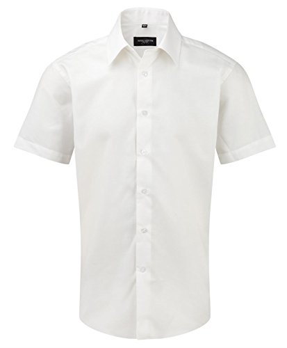 Russell Collection -  Camicia classiche  - Uomo White 42