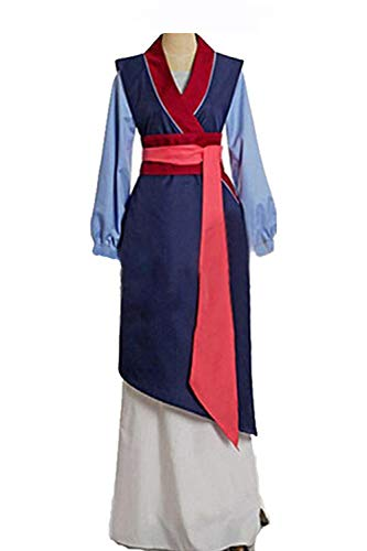 Huiyemy Mulan Kostüm Prinzessin Kleid chinesisches Kleid Damen Blau S