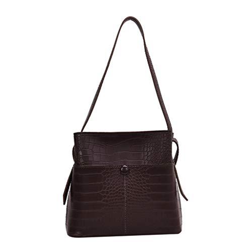 squarex ® 2019 Ledertasche Casual Wild Bag Schultertasche Umhängetasche Ladies Simple Bag Großraumtasche Reisetasche Handtasche Beuteltasche