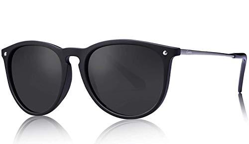 Carfia Vintage Polarisierte Sonnenbrille für Damen Herren UV400 Schutz Ultraleicht Rahmen