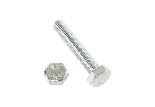 2 Stk Sechskantschraube DIN 933 8.8 M14 x 60 verzinkt (M14 Schraube)