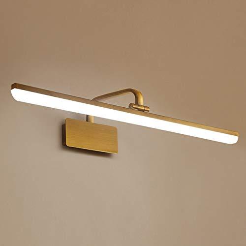 WOSOSYEYO Lámpara de Pared de Maquillaje de Estilo Americano LED para baño, luz de Espejo, Delantera