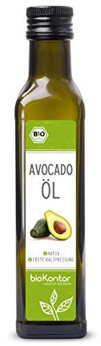 Avocadoöl BIO 250ml I Avocado-Fruchtfleischöl I nativ – 100% rein I Rohkostqualitätvon bioKontor