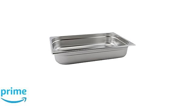 misura 1//1 Genware nev-gn11/ 65/mm di profondit/à /65/in acciaio INOX Gastronorm pan