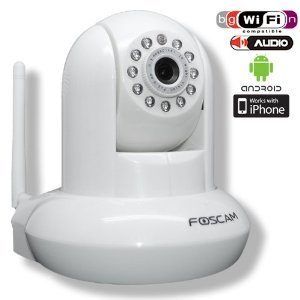 Foscam FI8910W Wireless Überwachungskamera (WiFi, IR-Cut-Filter, bis 8m Nachtsicht, 2,8mm Objektiv) weiß