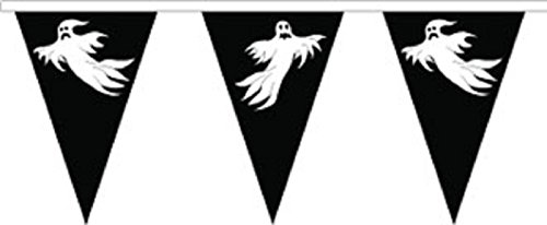 Halloween Ghost Superior Polyester Flagge Wimpelkette 10m (33') Wimpelkette mit 24Flaggen