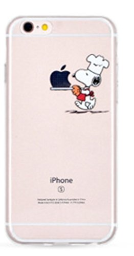 Phone Kandy® Trasparente tpu silicone cartoon case Guardia & schermo Custodie (iPhone 6 6s (4.7 pollici), Snoopy #1)