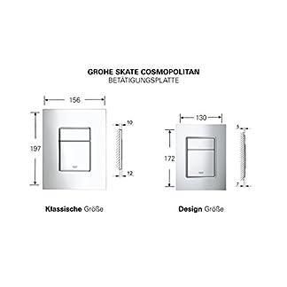 Grohe Skate Cosmopolitan S Escudo – Placa de descarga