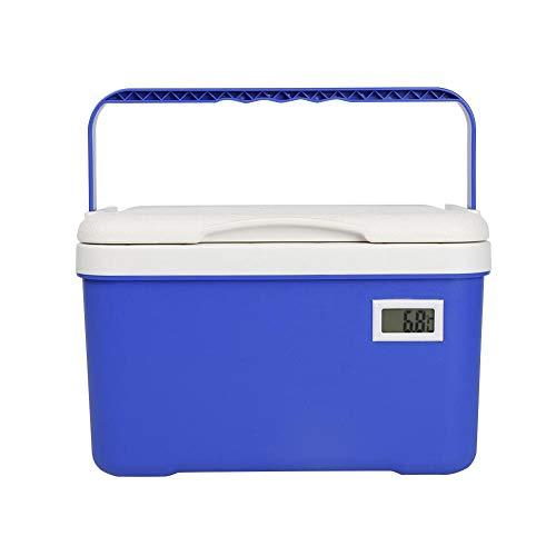 6L Tragbares Auto Im Freien Kühler Und Warmer Kühler Kasten Mit Temperaturanzeige, Auto Kühlbox Organisator Für Das Reisen Und Das Kampieren