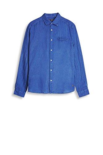 ESPRIT Herren Freizeit Hemd Blau (Dark Blue 405)