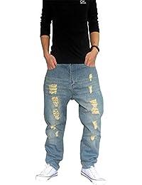 72f2bfb5eff3e Lanceyy Pantalones De Mezclilla De Mujeres Carga Hombres Hombres Pantalones  Simple Estilo Pantalones De Chándal Sueltos De Hip Hop…