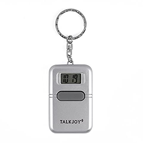 PROFI Sprechender Schlüsselanhänger Uhrzeit Wecker Sprachausgabe Blindenuhr Taschenuhr Digitale sprechende