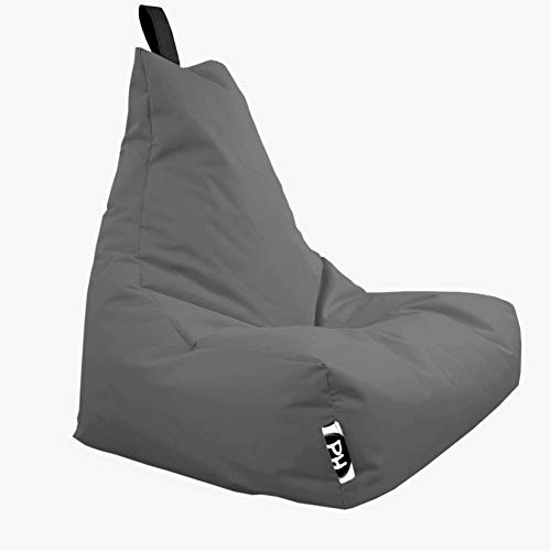 Patchhome Lounge Sessel XL Gamer Sessel Sitzsack Sessel Sitzkissen In & Outdoor geeignet fertig befüllt | XL - Anthrazit - in 2 Größen und 25 Farben