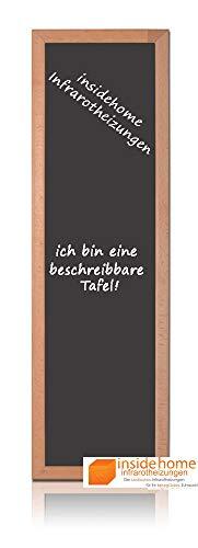 insidehome   Infrarotheizung Tafel CLASSIC   Vollholz - Rahmen Buche 30mm   hochwertige Glasheizung sandgestrahlt   deutscher Hersteller   320 Watt (120x35x2,5 cm)