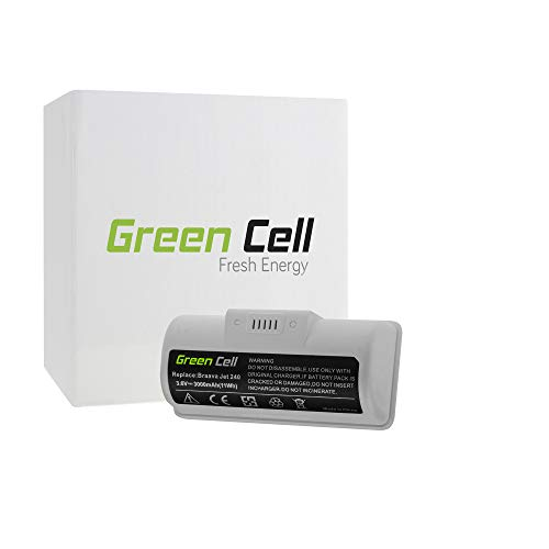 Green Cell® 4446040, UFE-ALT240ROB, BC674 3Ah 3.6V Samsung Li-Ion celdas Batería de Aspirador para Wischroboter, Roboter Bodenwischer iRobot Braava Jet 240