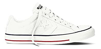 Converse Unisex Adults' Star Player Sneakers, White, Weiß (Weiß), 5 UK