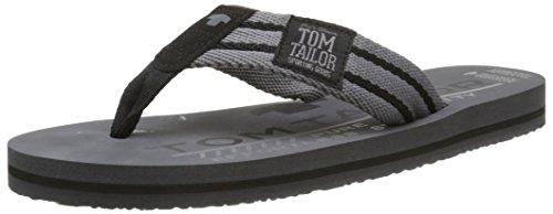 Tom Tailor  9681602,  Herren Zehensandalen , Grau - Grau - Gris (Coal) - Größe: 43