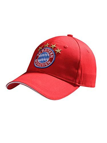 FC Bayern München Baseballcap, rote Cap mit großem Logo -