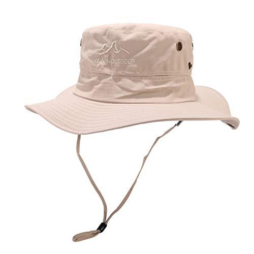 eb299249e331 Cowboy Hat-Natural Roll Bucket Summer Foldable Straw Sun Visor Beach Sun Hat  UPF50+ Wide