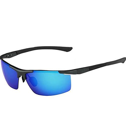 AOCCK Sonnenbrillen,Brillen, Aluminum Magnesium Sport Sunglasses Polarized Men Coating Mirror Driving Sun Glasses Oculos Male Eyewear Accessories Blue