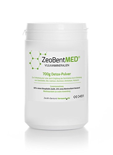 ZeoBent MED Detox-Pulver 700 g, CE zertifiziertes Medizinprodukt