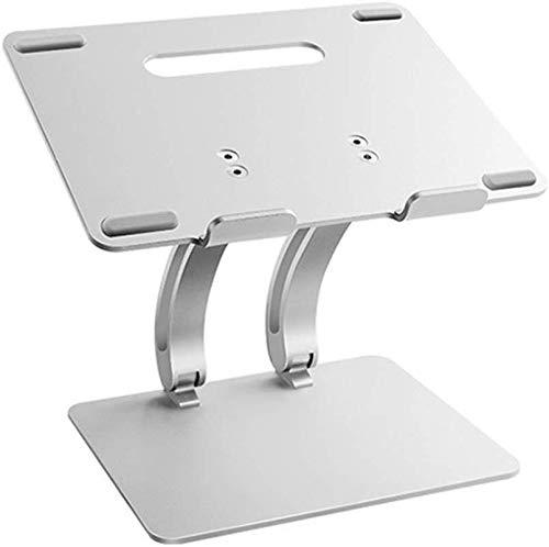 WUSN Notebookständer, universal Laptop Riser: ergonomische Dreh belüftete Tischfuß, spart Platz, Silber