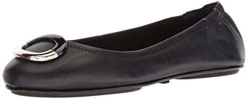 Bandolino Womens Flat (Bandolino Women's Fanciful Ballet Flat, Black Leather, 7.5 M US)