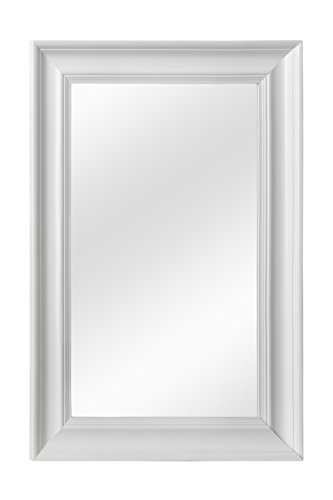 PREMIER HOUSEWARES URBAN ESPEJO DE PARED  90 X 60 CM  BLANCO MATE