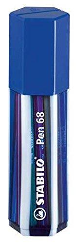 stabilo-pen-68-20er-box-farbig-sortiert-und-in-wunschfarbe-zur-auswahl-filzstift-blau-transluzent