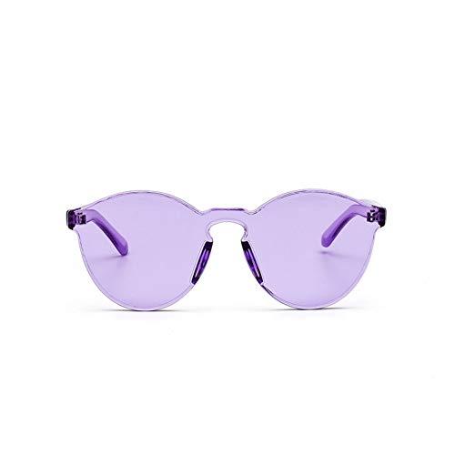 YOURSN Candy Farbe Cat Eye Brille Frauen Kühlen Kunststoff Uv400 Sonnenbrille Persönlichkeit Retro Integrierte Sonnenbrille Für Frauen-C8 Purple