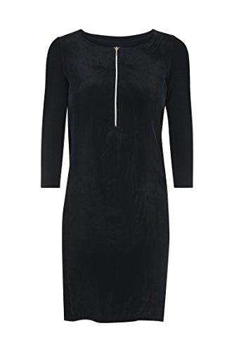 bellybutton Maternity Damen Umstandskleid Stillkleid 1/1 Arm Schwarz (Stretch Limo Black 1390) 44