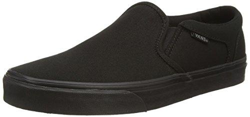 Vans M Asher, Herren Sneakers, Schwarz ((Canvas) Black/Black), 42 EU