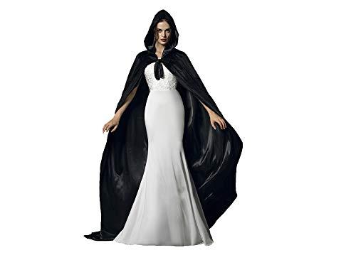 Schwarze Dude Kostüm - Special Bridal Umhang schwarz Erwachsener Unisex