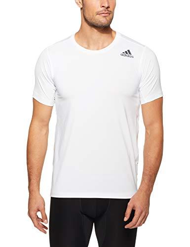 adidas FreeLift Fitted Elite Camiseta, Hombre, Blanco, Medium