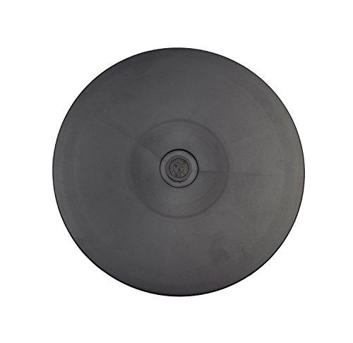 AsiaLONG Universeller Drehteller 360⁰ drehbar Drehteller kugelgelagert 20cm, 9 kg Tragkraft, geeignet für TV/Lautsprecher/Zuckerguss Drehteller/Monitore/Küchengeräte Drehplatte Drehtisch (Schwarz)