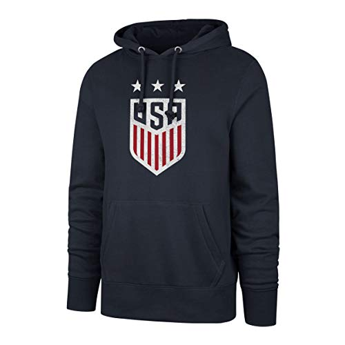 Weltmeisterschaft Vereinigten Staaten Herren OTS Fleece Hoodie Distressed, Herren, World Cup Soccer Men's OTS Fleece Hoodie Distressed, Fall Navy-US Women's Team, Small -