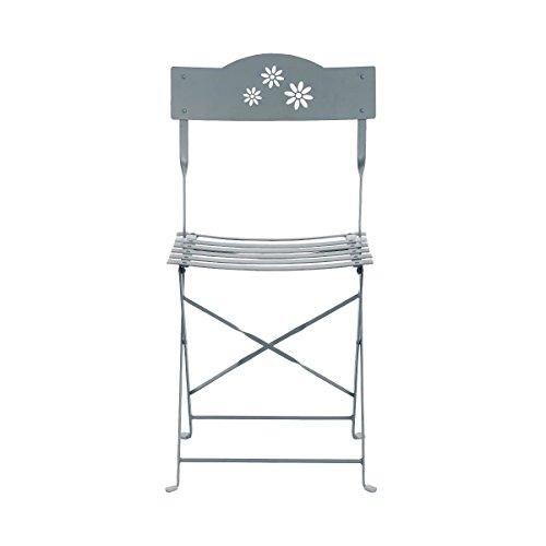 Butlers Daisy Jane Klappstuhl - Balkon-Stuhl - Garten-Stuhl - Retro-Stil - viereckig - Eisen - 45 x...