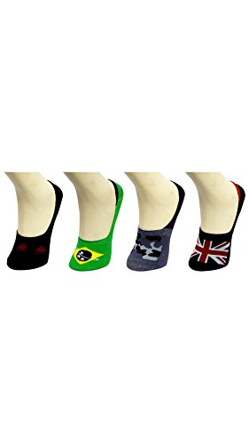 Blinkin Unisex No Show Loafer Socka With Slicon Grip At Heels (pack of 4 pair) Fits For Uk/Indian Size 4, 4.5, 5, 5.5,6,7,8,10