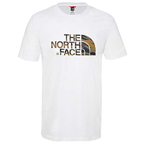 La Cara Norte Manga Hombre Short Easy Camiseta Blanca/de