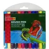 #8: Camlin Kokuyo Brush Pen, 12 Shades (Multicolor)