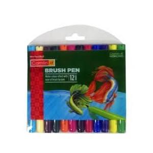 Camlin 4019272 Kokuyo Brush Pen, 12 Shades (Multicolor)