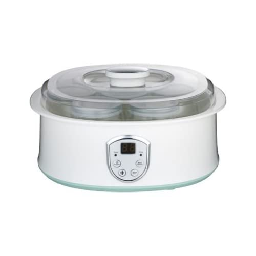 31D2zl2ScDL. SS500  - Lakeland Digital 7 Individual Cup Electric Yoghurt Maker - White